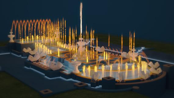 3d-анимация фонтана