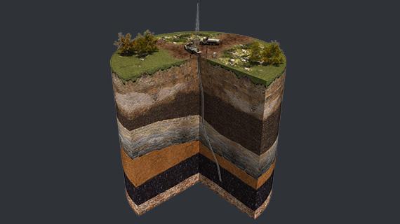 3d-визуализация процесса нефтедобычи для каталога