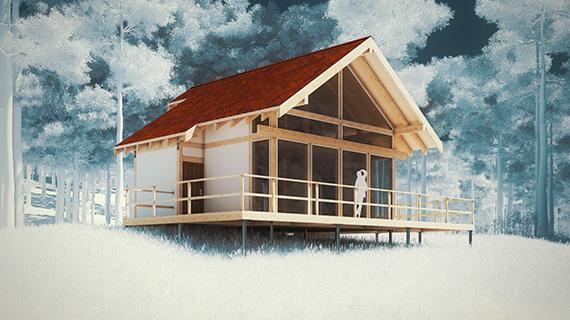 3d-анимация сборки дома
