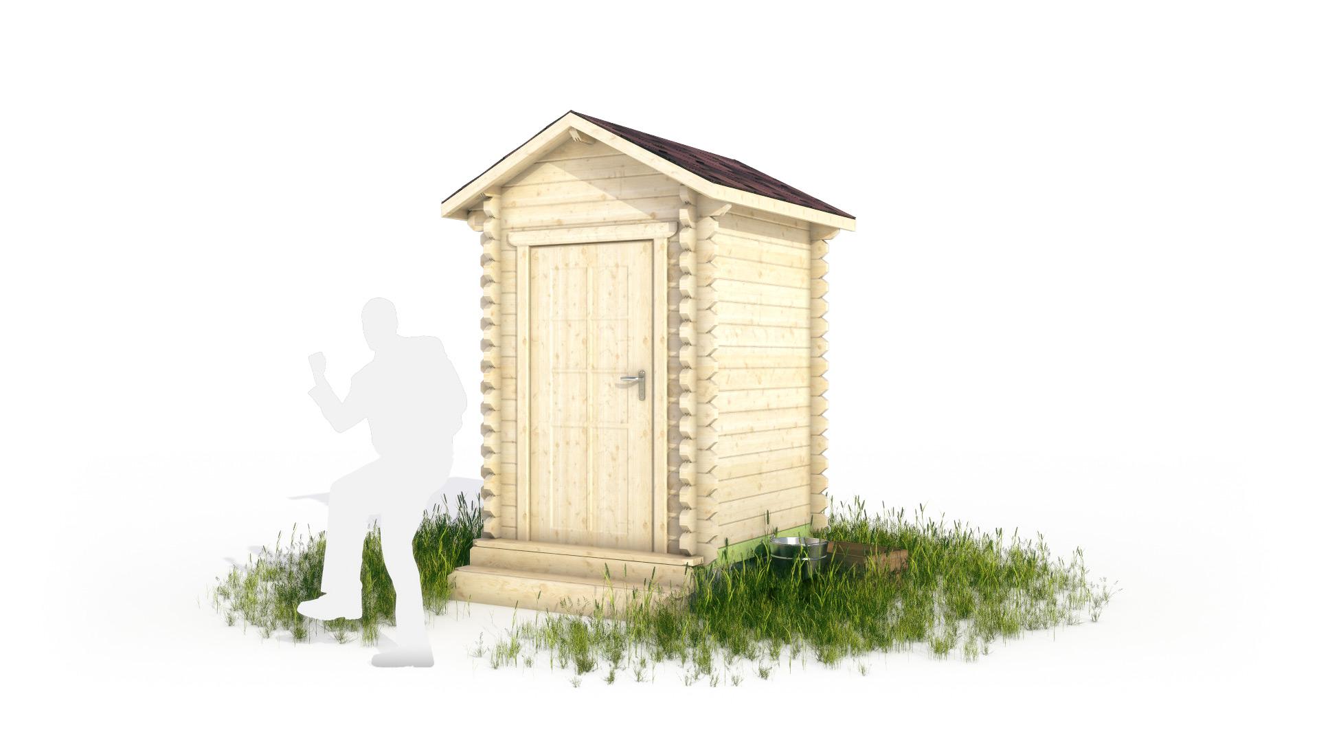 Туалет/душ в 3d