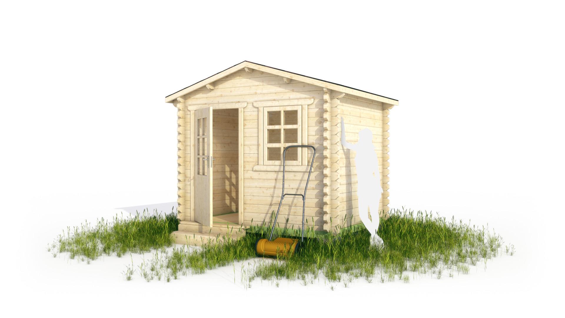 Садовый домик в 3d
