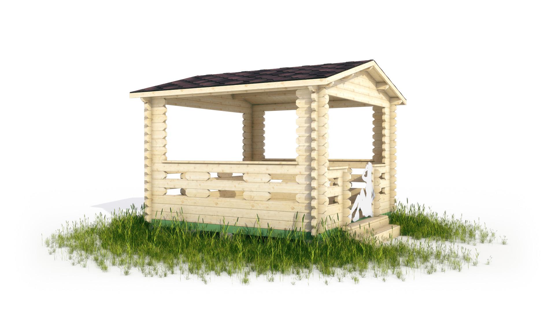 Беседка садовая в 3d