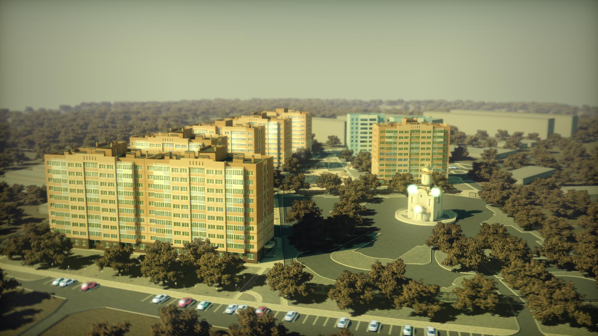 Архитектурная 3д-анимация. Цветокоррекция