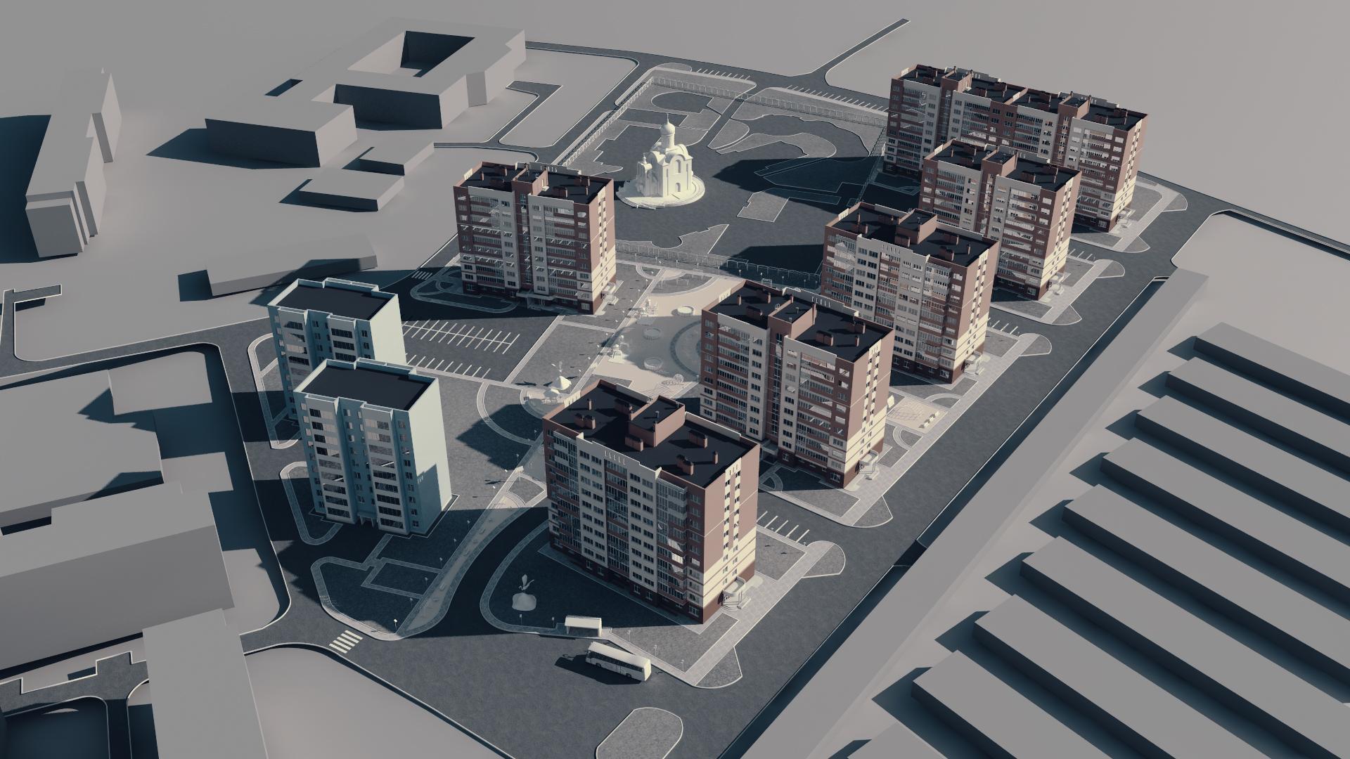 Архитектурная 3д-анимация. Композинг