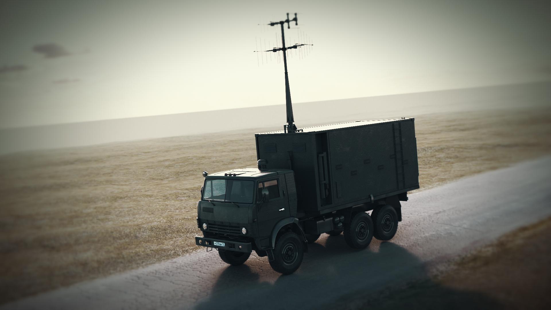 Наземная станция управления БПЛА (кадр из 3д-анимации)