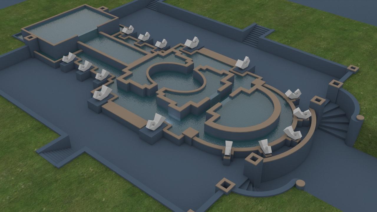 3d-модель фонтана