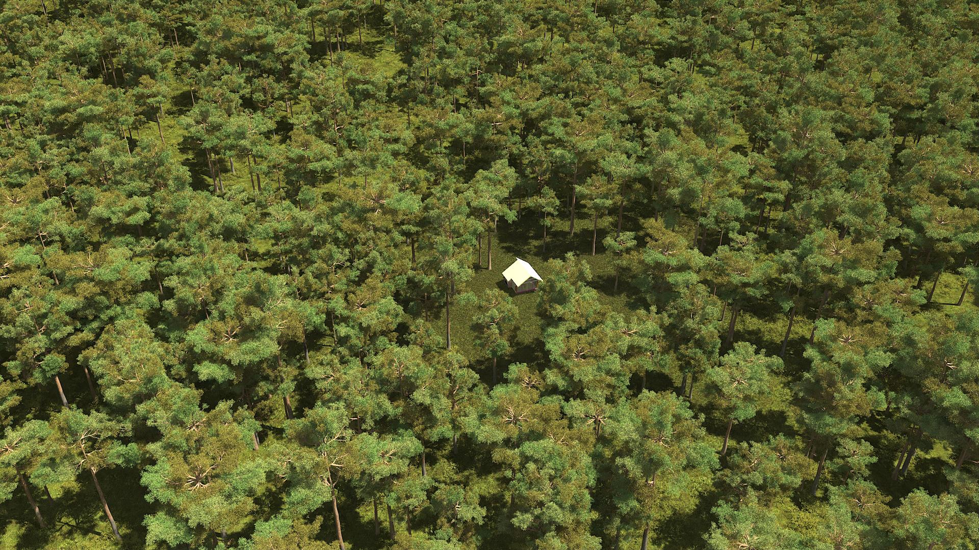 3д-визуализация дома Полар, вид сверху