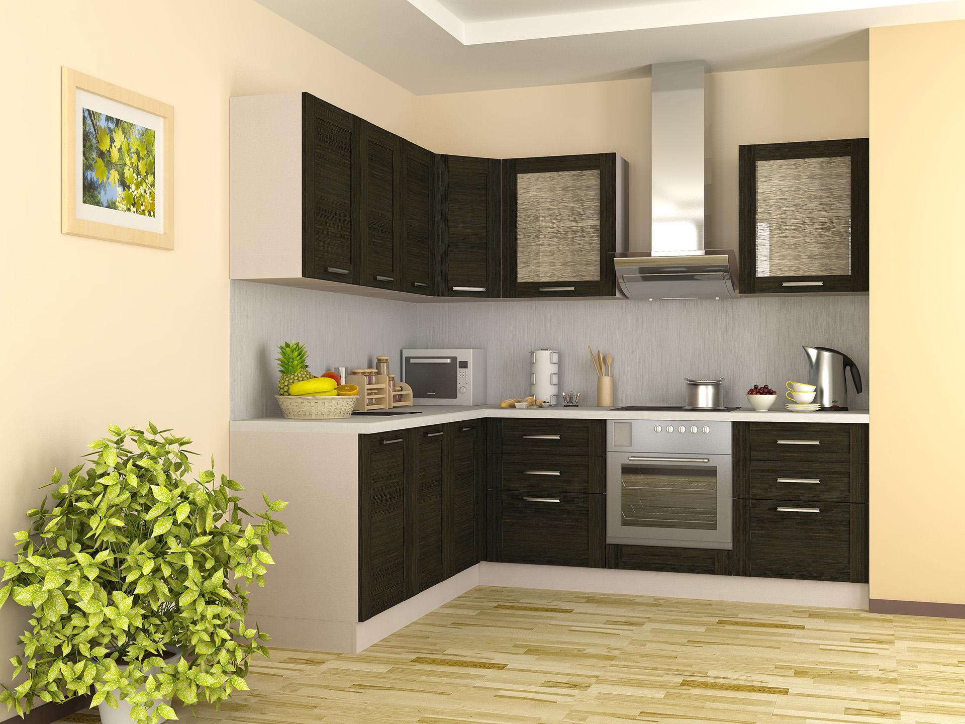 Модерновая кухня с рамочным фасадом