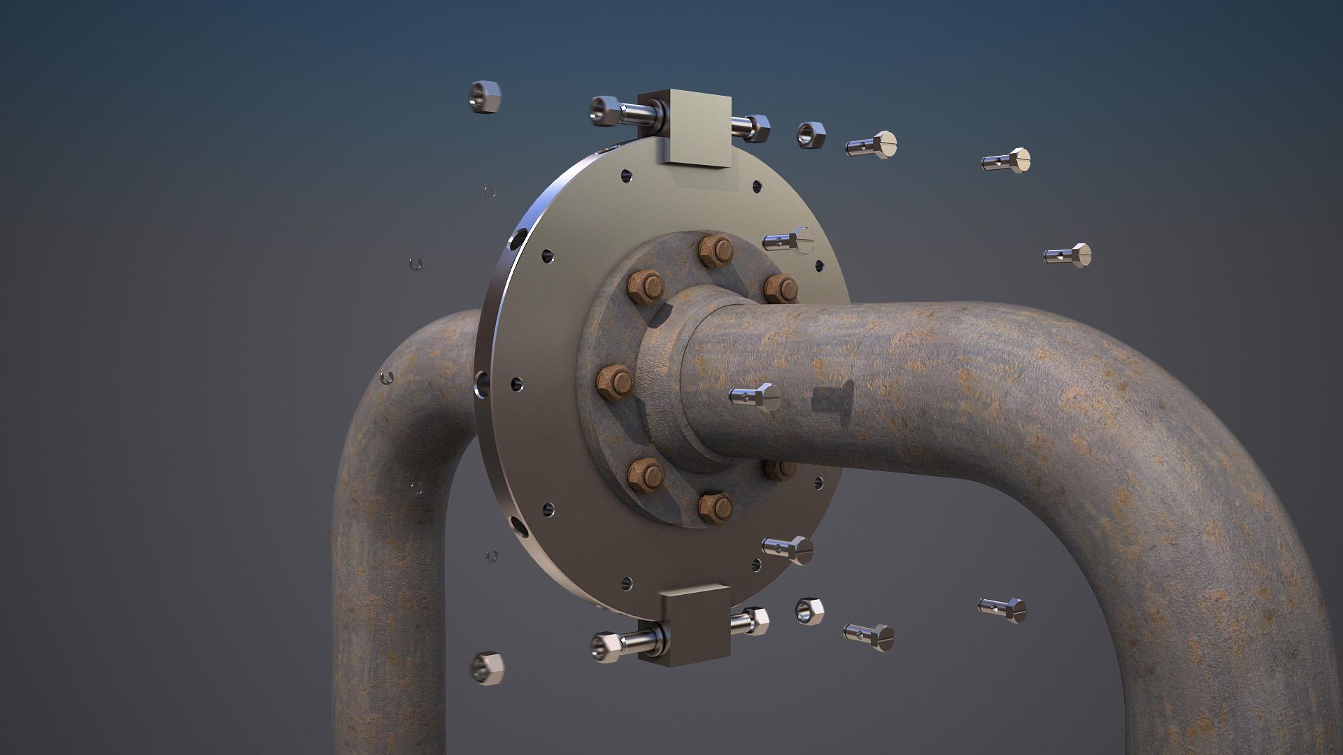 Техническая 3d-анимация. Сборка механизма.