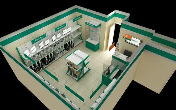 Визуализация магазина 33 кв. м