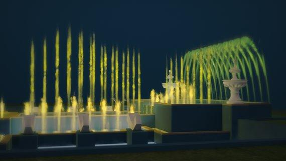 Кадр из 3d-анимации фонтана