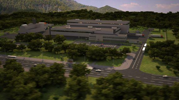 3d-анимация облета завода