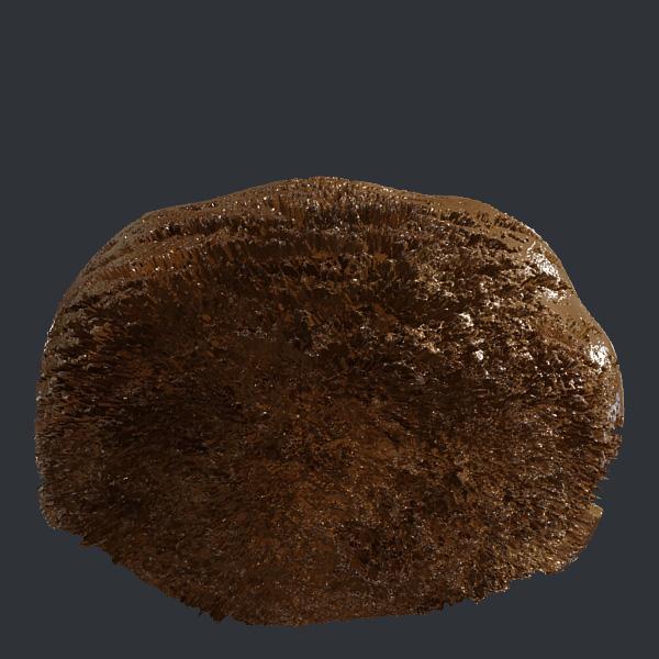 3d-визуализация: Мороженое шоколадное (верхушка из стаканчика)